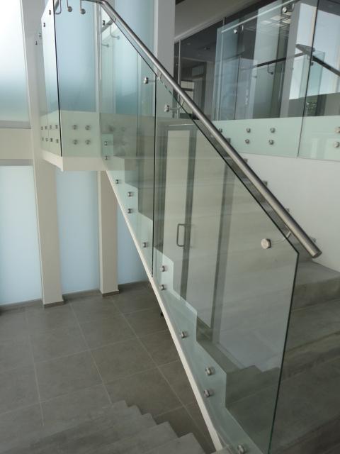 Soporte de pasamanos para barandillas de vidrio cristal aramar - Pasamanos de cristal ...