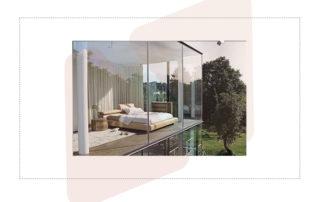 habitación vidrio