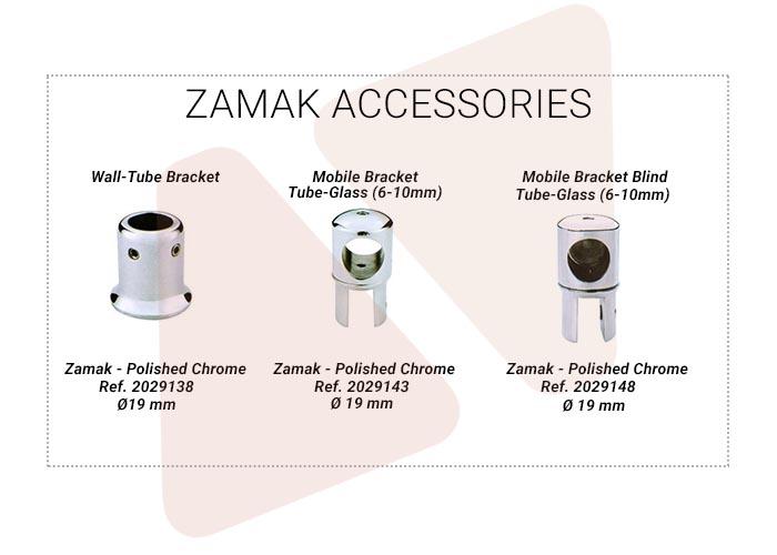 Accesorios para barras de refuerzo zamak