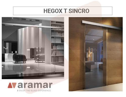Nueva corredera Hegox T Sincro con taladros al vidrio