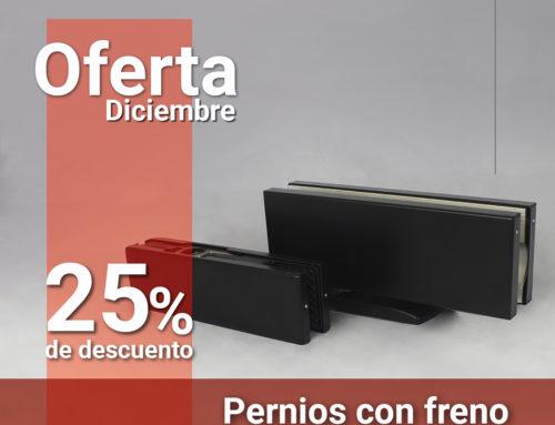 Oferta Diciembre 25% en Pernios con Freno